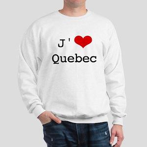 J' [heart] Quebec Sweatshirt